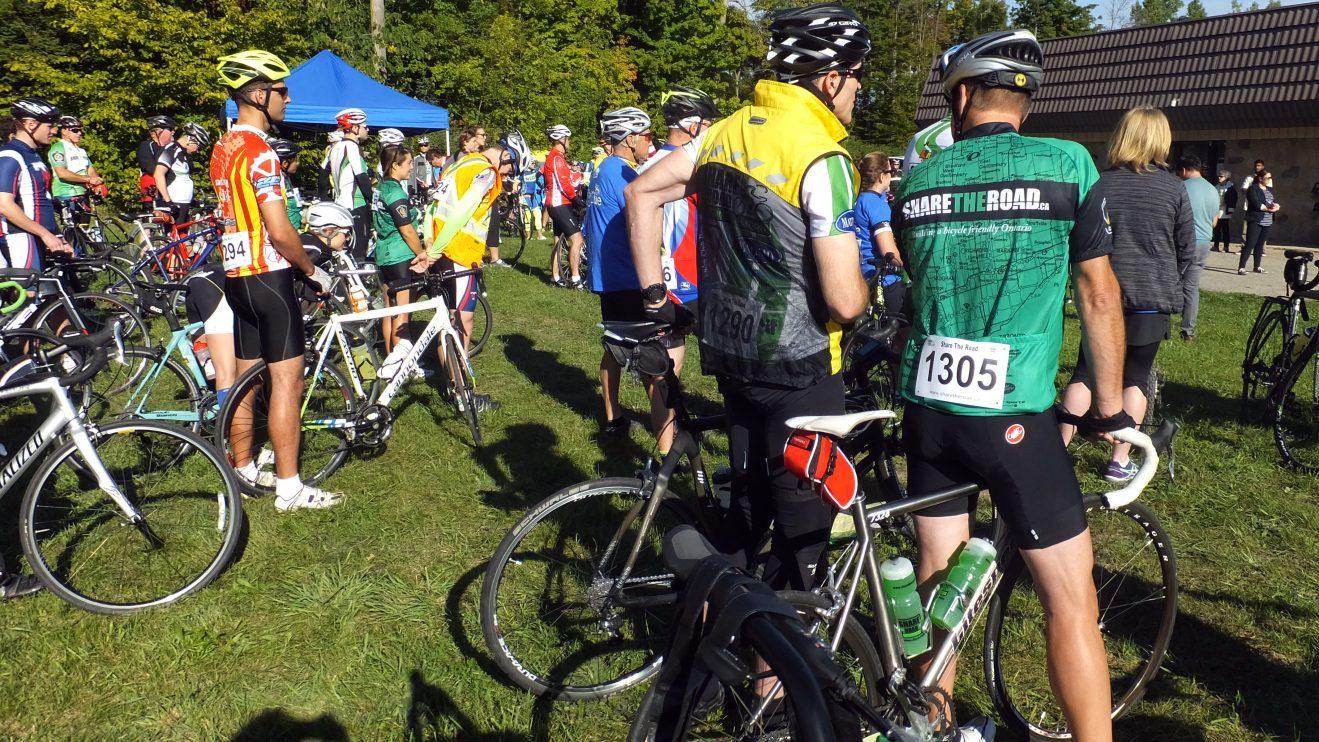 BikeBrampton members going to Greg's Ride