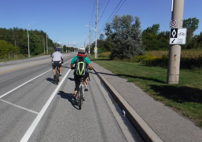 Heart Lake Rd bike lane