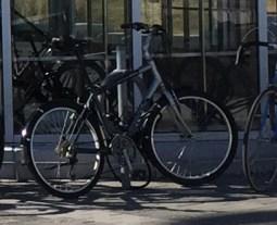 TTC bike parking u-locks