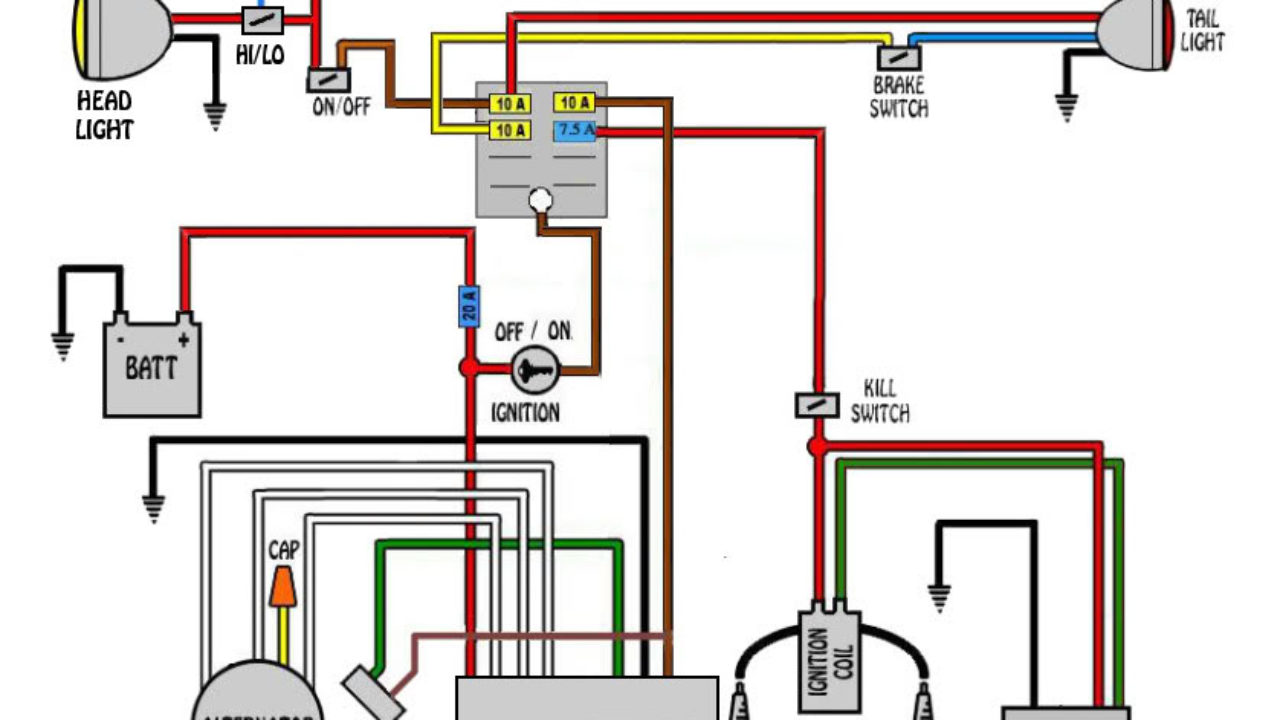 hight resolution of xs1100 bobber wiring diagram