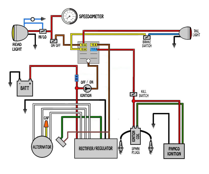 cb550 chopper wiring diagram image 7