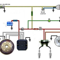 Simple Motorcycle Wiring Diagram Alternator Wire Cafe Racer Bikebrewers Com Kickstart Only