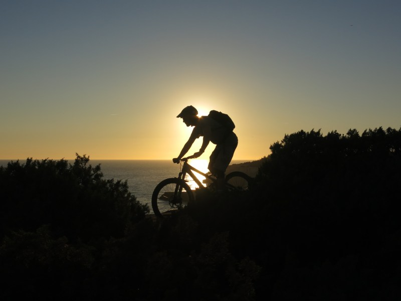 Sunset on MTB