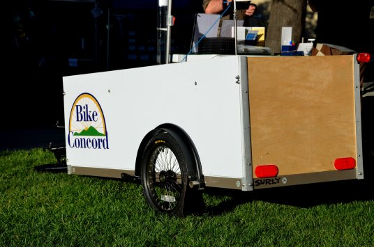 The Bike Tent trailer. Advertising space available to any reputable party who would like to help sponsor a future community bicycle shop.