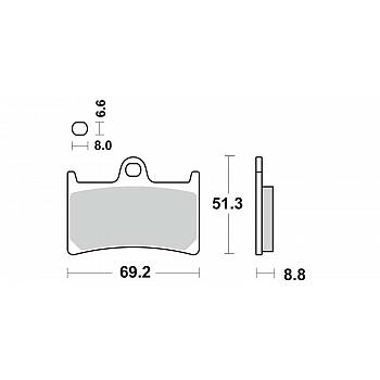 Jarrupalat Etu Yamaha YZF-R1 1998-2003, YZF-R6 1999-2004