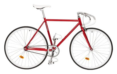 Critical Cycles Classic Fixed-Gear Single-Speed Bike with Pista Drop Bars