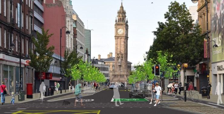 Belfast Cycle Network Scheme 4 - High Street Visualisation