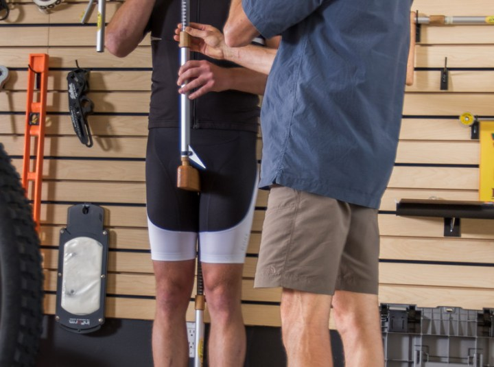 inseam and torso measurements for bike sizing and fitting