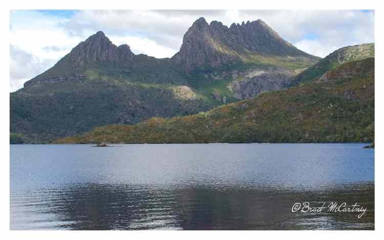 Dove Lake with Cradle Mountain in the background, the start of my journey