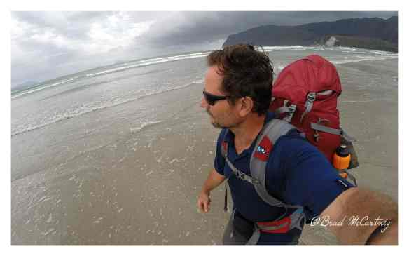 Prion Beach and hiking with no boots through the sea