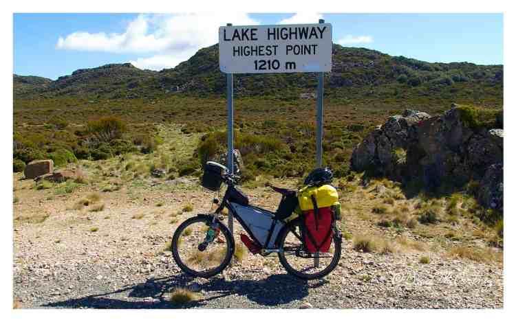 cycling Central Plateau of Tasmania