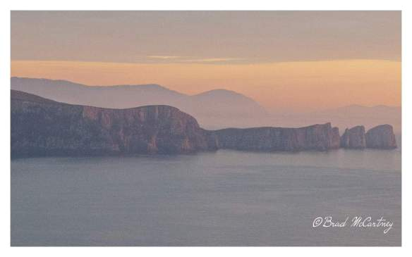 Cape Hauy at sunrise from Cape Pillar