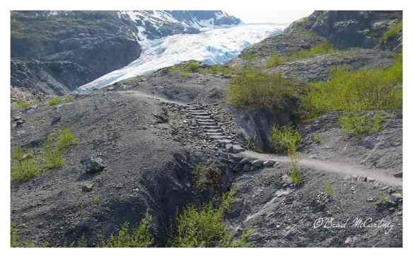 There is now a walking path where the glacier was in May 1997!