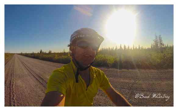Midnight sun cycling on the Dempster Hwy