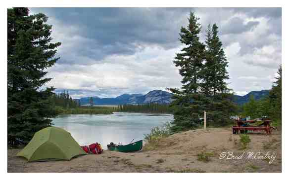 First campsite next to the Yukon river about 35km downstream from the City of Whitehorse