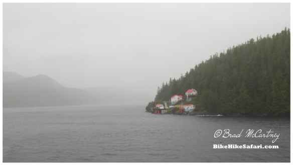 Remote lighthouse on the inside passage