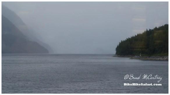 Rain on the Ferry Journey