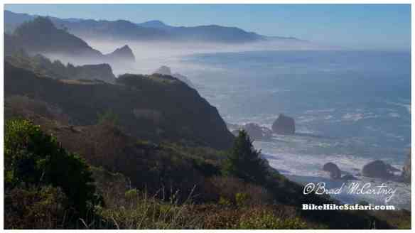 Morning coastal scenery between Humbug Mountain and Gold Beach