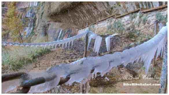Frozen hand rails at ???