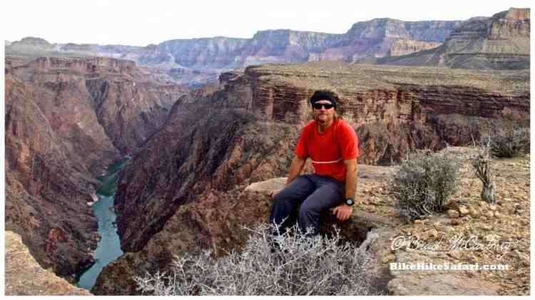 Resting on the cliffs overlooking the Colorado River
