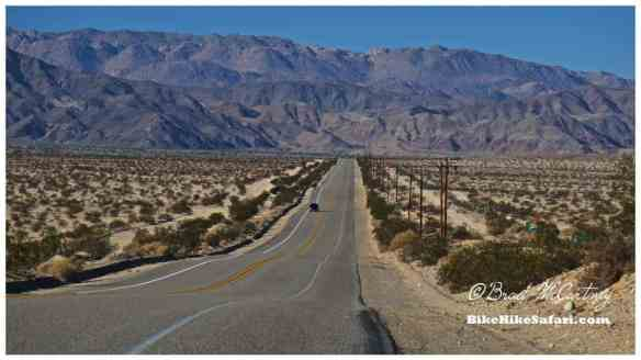 Desert roads near the Mexican Border