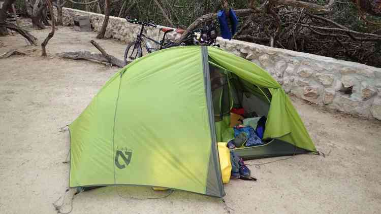 Camping at Ida y Vuelta hostal