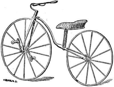 A bike in the time period designed specifically for ladies.