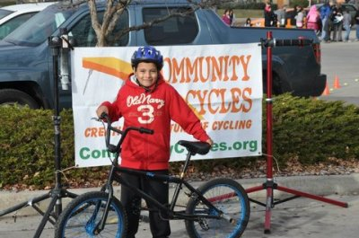 There are always lots of smiling faces at the Kids' Holiday Bike Giveaway!
