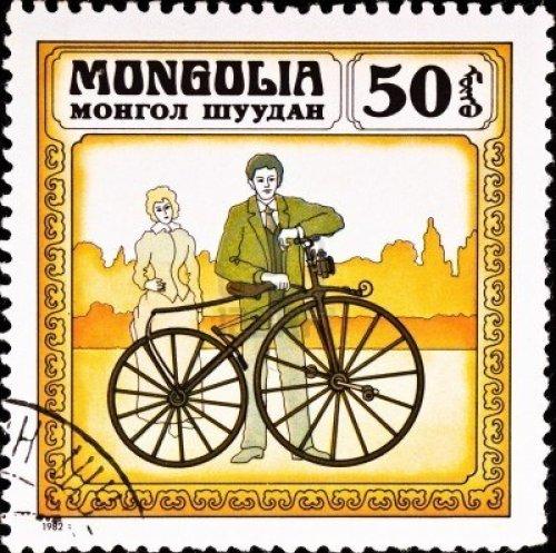 6662395-mongolia--circa-1982-postage-stamp-shows-vintage-bicycle-circa-1982