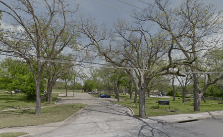 Govalle Park. This Google Streetview picture was obviously not taken in the middle of summer.