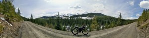 Rolling Dale Adventure Bike, with Bikepackers Foundry luggage, loaded for a Spring overnighter in the Rockies.