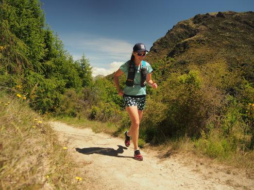 Running Dasha on Arrowtown trail
