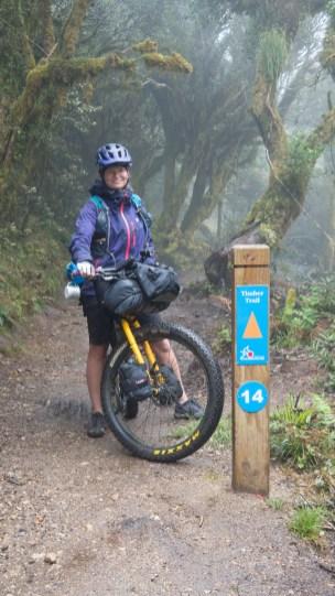 Nejvyšší místo na Novém Zélandu, které jsme na naší cestě domů projeli. (980 m. n. m.)