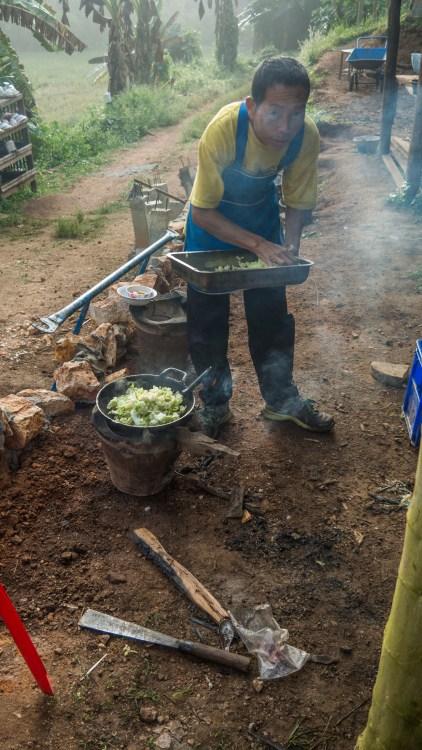 Pan Pinan v roli kuchaře