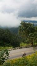 Cesta do sedla mezi městy Chiang Mai a Pai