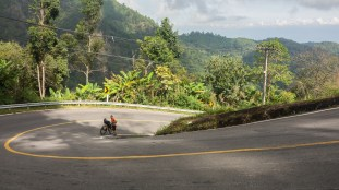 Road climb to a Doi Ang Khang Camp. If you think this is steep, then wait for next picture.