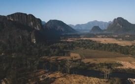 Vang Vieng Surroundings from Eagles Eye