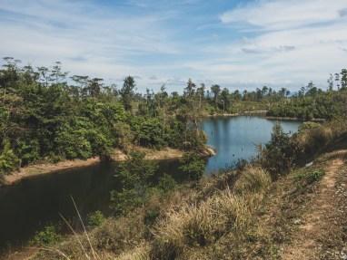 Rameno jezera Nam Theun 2 severně od města Nakay