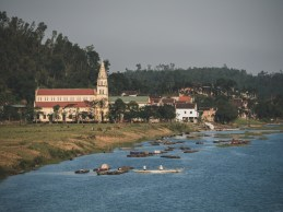Church and river in Phong Nha National Park