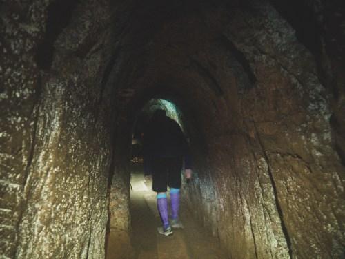 Daška v tunelu