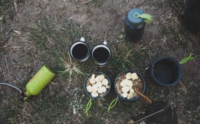 Typical camping breakfast, Thap Lan NP