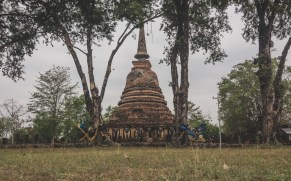 Chang Lom, an elephant pagoda, Old Sukhotai