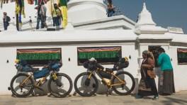 Prayers and our bikes, Boudhanath