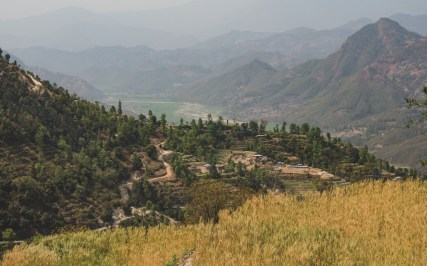 View from our first climb, Kathmandu Valley