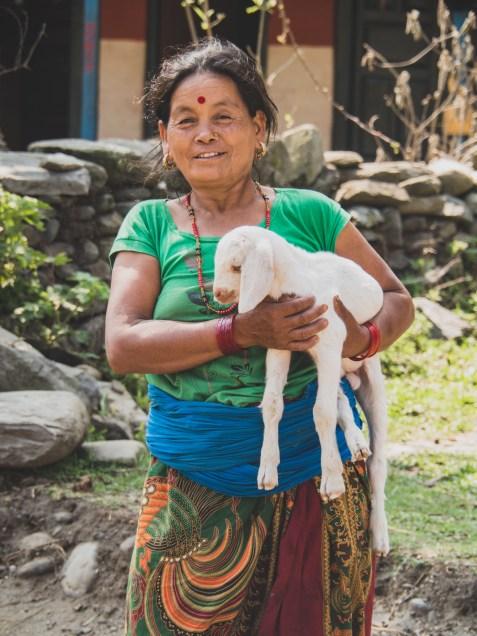Lady had a little goat, Sundar Bazar