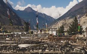 Tibetan style houses. Jomsom, Nepal