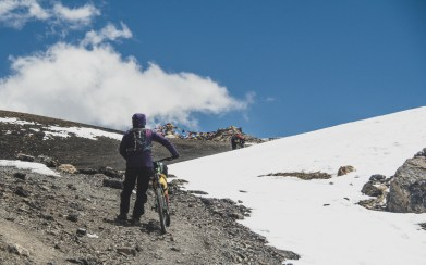 Poslední metry. Thorong La, Nepál