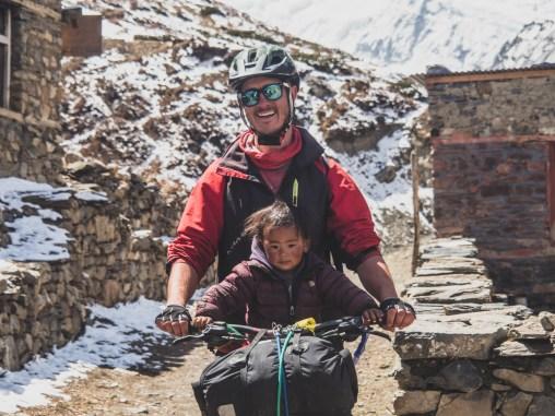 Gary and a babygirl. Yak Kharka, Nepal
