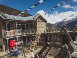 Guesthouse with the view. Gunsang, Nepal