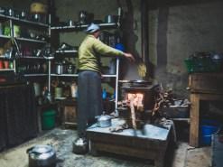 In Nepali kitchen. Gunsang, Nepal